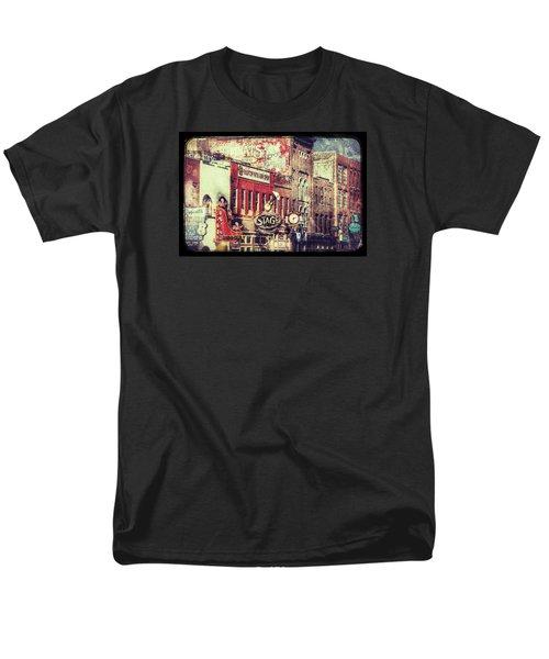 Honky Tonk Row - Nashville Men's T-Shirt  (Regular Fit) by Debra Martz
