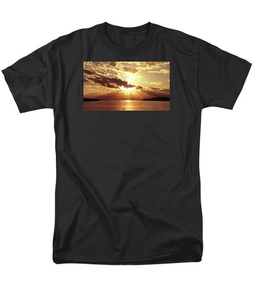 Men's T-Shirt  (Regular Fit) featuring the photograph Hood Canal Sunset by Eddie Eastwood
