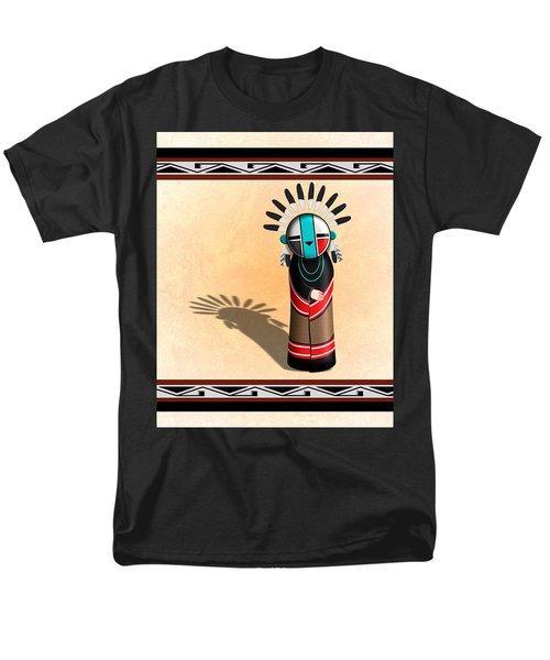 Hopi Sun Face Kachina Men's T-Shirt  (Regular Fit) by John Wills
