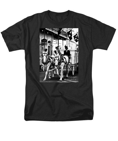 Horse Drawn Funeral Carriage Men's T-Shirt  (Regular Fit) by Kathleen K Parker
