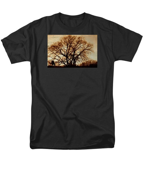 Horse In The Willows Men's T-Shirt  (Regular Fit) by Rena Trepanier