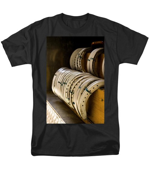 Men's T-Shirt  (Regular Fit) featuring the photograph Horse Shoes by Angela Rath