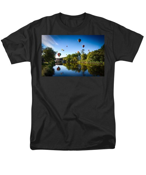 Hot Air Balloons In Queechee 2015 Men's T-Shirt  (Regular Fit) by Jeff Folger