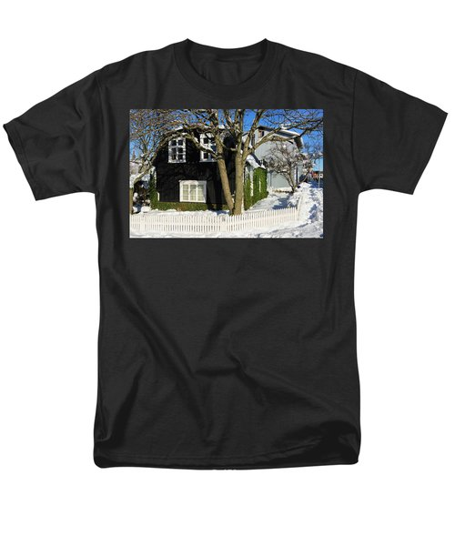 Men's T-Shirt  (Regular Fit) featuring the photograph House In Reykjavik Iceland In Winter by Matthias Hauser