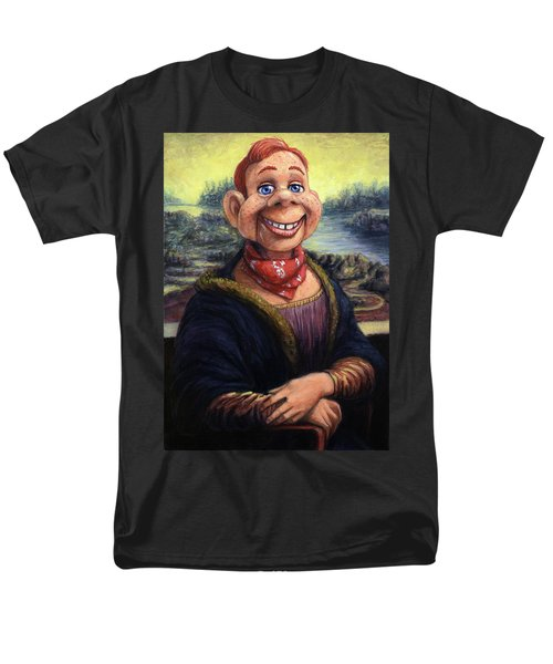 Men's T-Shirt  (Regular Fit) featuring the painting Howdy Doovinci by James W Johnson