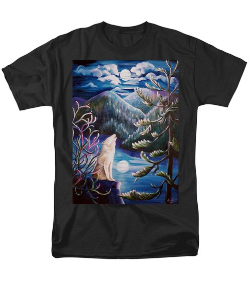 Men's T-Shirt  (Regular Fit) featuring the painting Howlin' The Blues by Renate Nadi Wesley