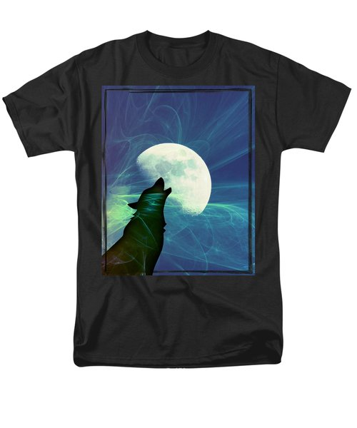 Howling Moon Men's T-Shirt  (Regular Fit) by Amanda Eberly-Kudamik