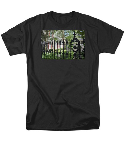 Men's T-Shirt  (Regular Fit) featuring the photograph Huguenot Church Cemetery by Gina Savage