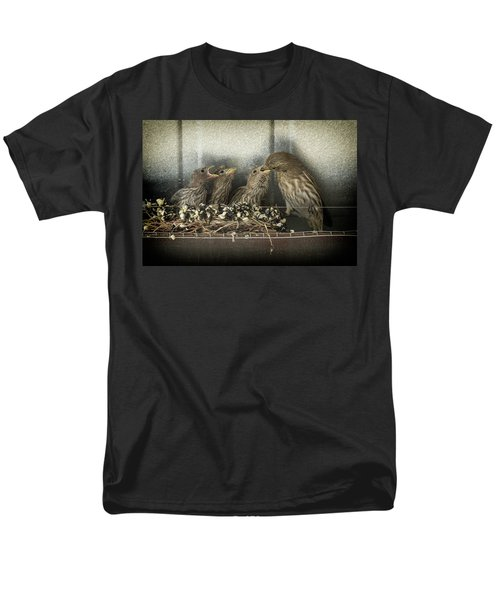 Men's T-Shirt  (Regular Fit) featuring the photograph Hungry Chicks by Alan Toepfer