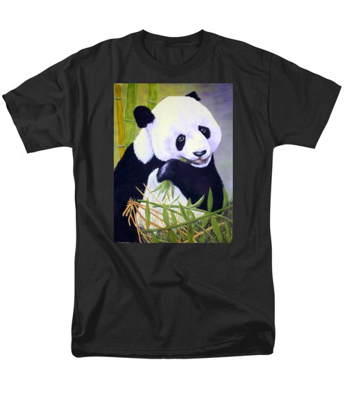 Men's T-Shirt  (Regular Fit) featuring the painting Hungry Panda by Nancy Jolley