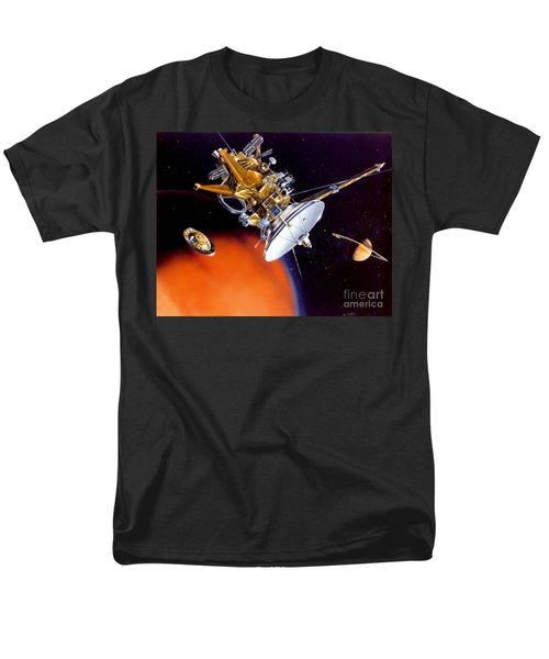 Huygens Probe Separating Men's T-Shirt  (Regular Fit) by NASA and Photo Researchers