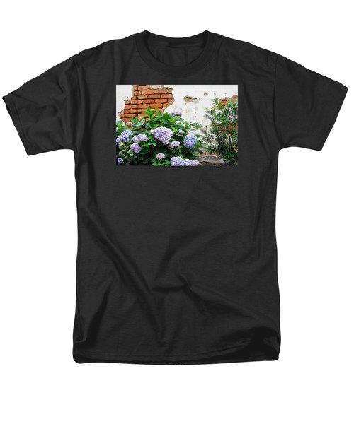 Hydrangea And Bricks Men's T-Shirt  (Regular Fit) by Menachem Ganon