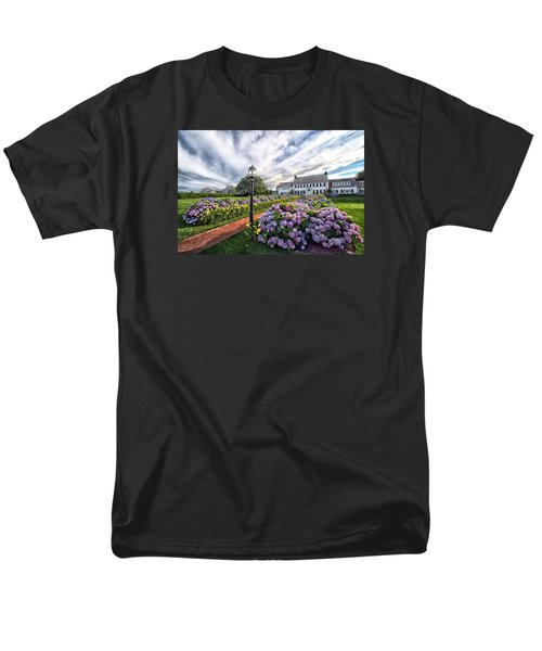 Men's T-Shirt  (Regular Fit) featuring the photograph Hydrangea Walk House by Constantine Gregory