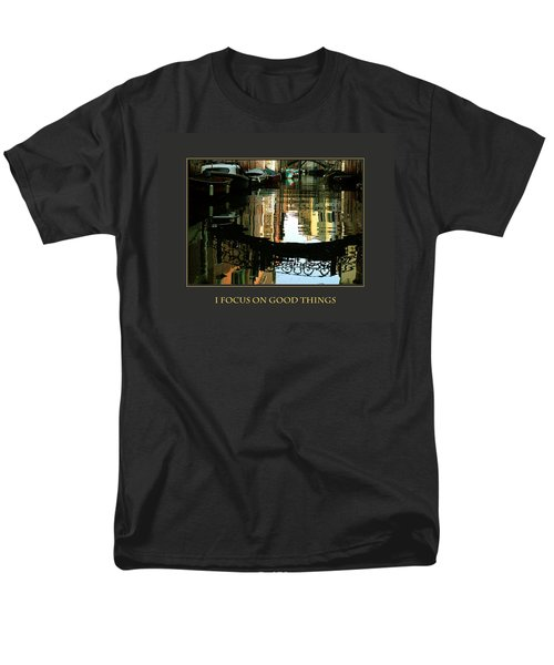 Men's T-Shirt  (Regular Fit) featuring the photograph I Focus On Good Things Venice by Donna Corless