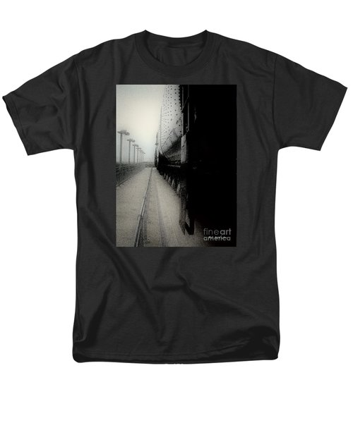 Men's T-Shirt  (Regular Fit) featuring the drawing I Hear That Lonesome Whistle Blow by RC deWinter