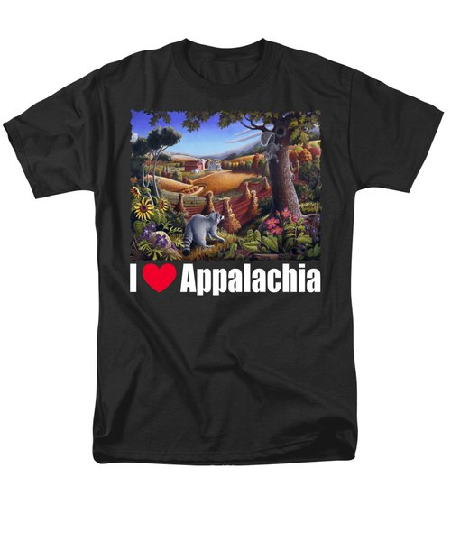 I Love Appalachia T Shirt - Coon Gap Holler 2 - Country Farm Landscape Men's T-Shirt  (Regular Fit) by Walt Curlee