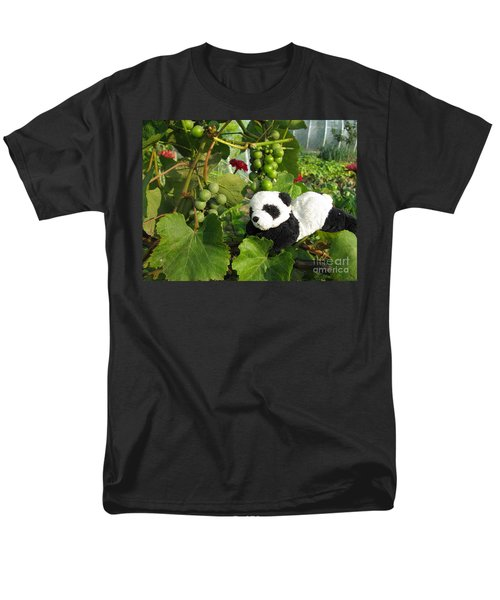 Men's T-Shirt  (Regular Fit) featuring the photograph I Love Grapes Says The Panda by Ausra Huntington nee Paulauskaite