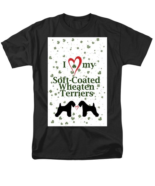 I Love My Soft Coated Wheaten Terriers Men's T-Shirt  (Regular Fit) by Rebecca Cozart