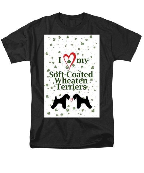I Love My Soft Coated Wheaten Terriers Men's T-Shirt  (Regular Fit)
