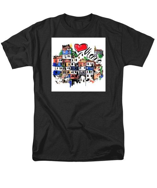 I Love Vienna  Men's T-Shirt  (Regular Fit)
