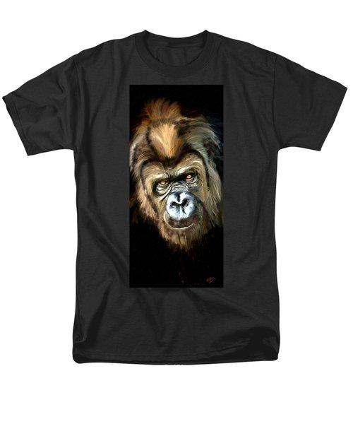 Gorilla Portrait Men's T-Shirt  (Regular Fit) by James Shepherd