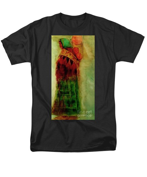 Men's T-Shirt  (Regular Fit) featuring the painting I Walk by FeatherStone Studio Julie A Miller