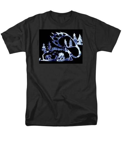 Ice Bears 1 Men's T-Shirt  (Regular Fit) by Larry Campbell
