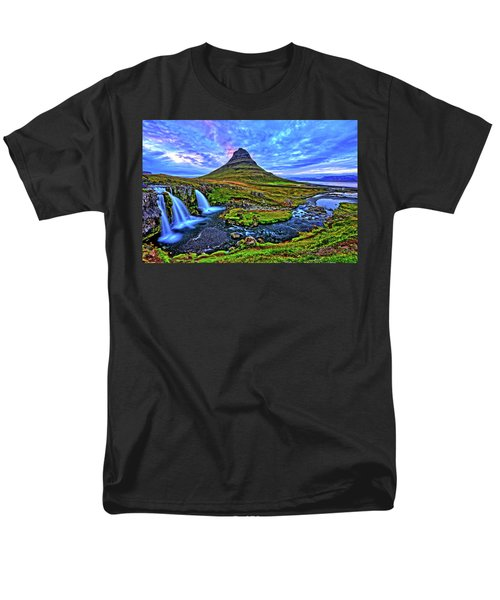 Men's T-Shirt  (Regular Fit) featuring the photograph Ice Falls by Scott Mahon