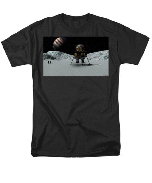 Men's T-Shirt  (Regular Fit) featuring the digital art Icefield Landing by David Robinson