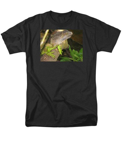Men's T-Shirt  (Regular Fit) featuring the photograph Iguana - A Special Garden Guest by Christiane Schulze Art And Photography