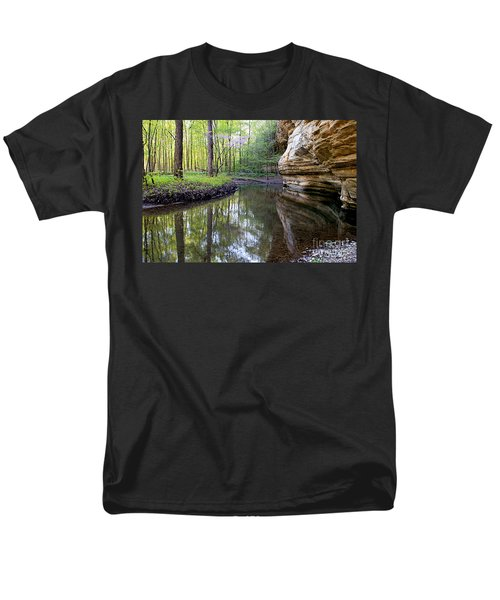 Illinois Canyon In Spring Men's T-Shirt  (Regular Fit)