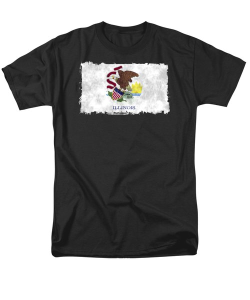 Illinois Flag Men's T-Shirt  (Regular Fit) by World Art Prints And Designs