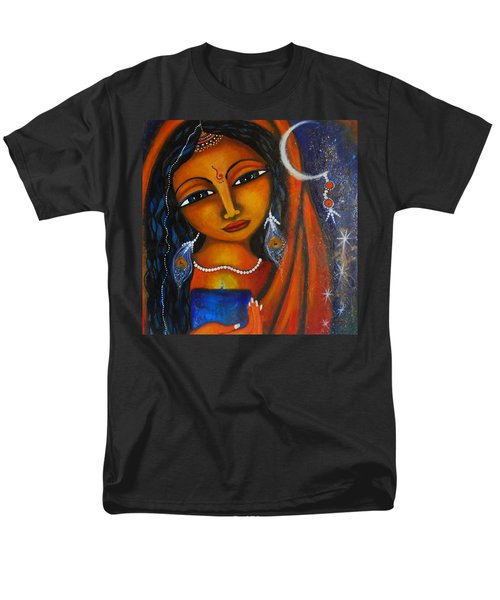 Men's T-Shirt  (Regular Fit) featuring the painting Illuminate by Prerna Poojara