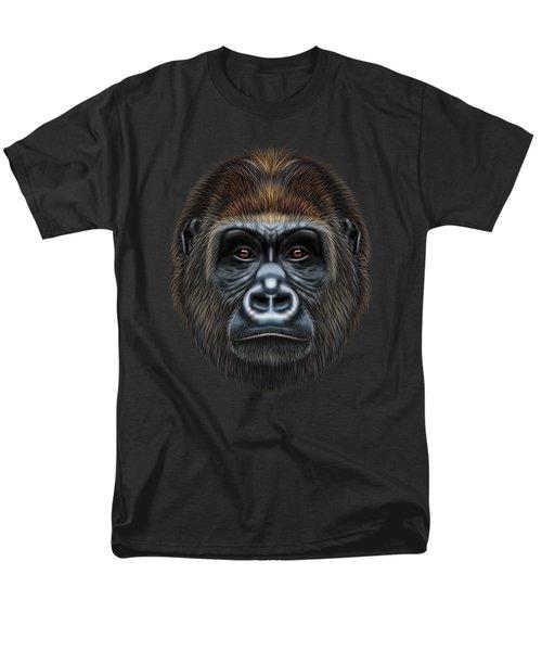 Illustrated Portrait Of Gorilla Male. Men's T-Shirt  (Regular Fit) by Altay Savrukov