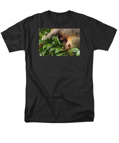 I'm Trying To Eat Here Men's T-Shirt  (Regular Fit) by Pamela Blizzard