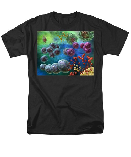 Immune Response Antibody 4 Men's T-Shirt  (Regular Fit) by Russell Kightley