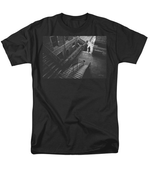 In Pursuit Of The Devil On The Stairs Men's T-Shirt  (Regular Fit) by Joseph Westrupp