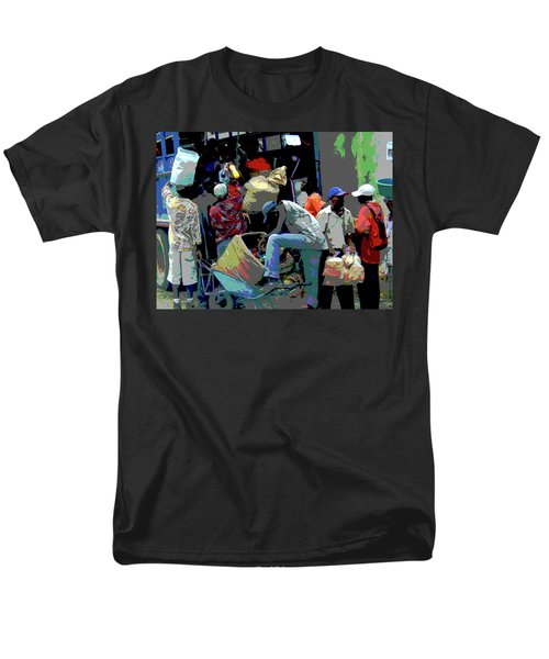 In The Market Place Men's T-Shirt  (Regular Fit) by B Wayne Mullins