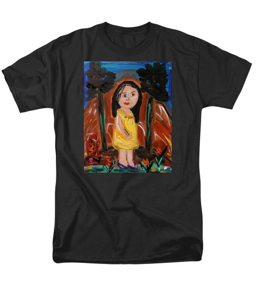 Men's T-Shirt  (Regular Fit) featuring the painting In The Woodlands by Mary Carol Williams