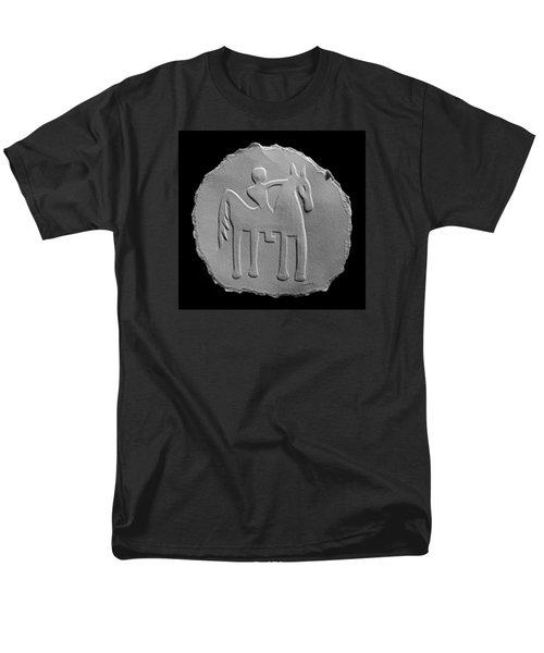 Men's T-Shirt  (Regular Fit) featuring the relief Indian Art - Horse Rider by Suhas Tavkar