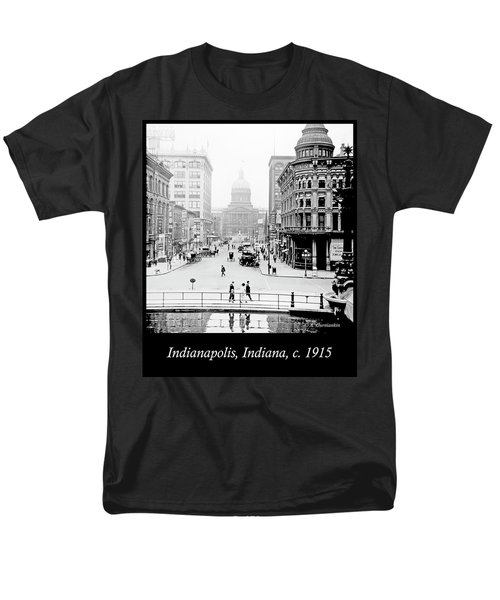 Indianapolis, Indiana, Downtown Area, C. 1915, Vintage Photograp Men's T-Shirt  (Regular Fit) by A Gurmankin