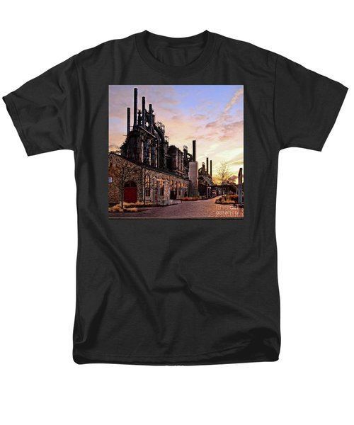 Men's T-Shirt  (Regular Fit) featuring the photograph Industrial Landmark by DJ Florek