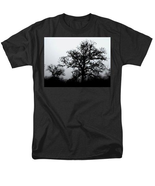 Men's T-Shirt  (Regular Fit) featuring the photograph Ink And Photo Study Of Live Oaks by Carolina Liechtenstein