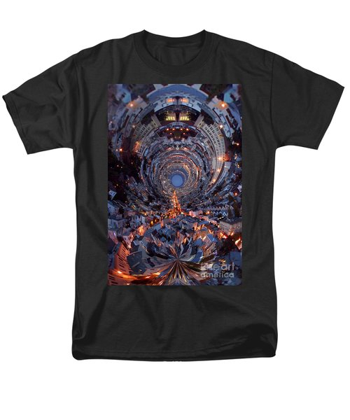 Inside A Space Station To The Galaxy Far Men's T-Shirt  (Regular Fit) by Wernher Krutein