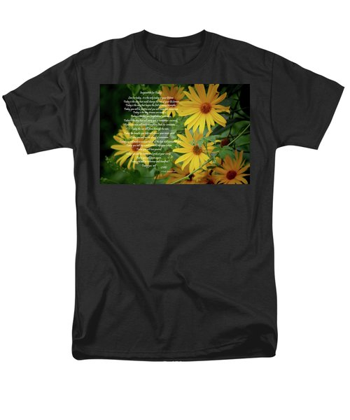 Inspiration For Today Floral Men's T-Shirt  (Regular Fit) by Cathy  Beharriell
