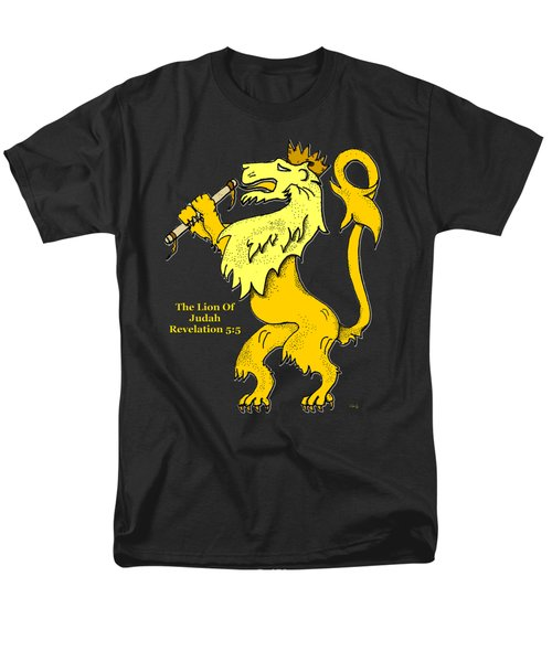 Men's T-Shirt  (Regular Fit) featuring the drawing Inspirational - The Lion Of Judah by Glenn McCarthy Art and Photography