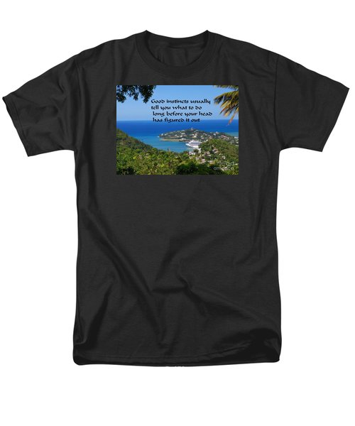 Men's T-Shirt  (Regular Fit) featuring the photograph Instincts by Gary Wonning