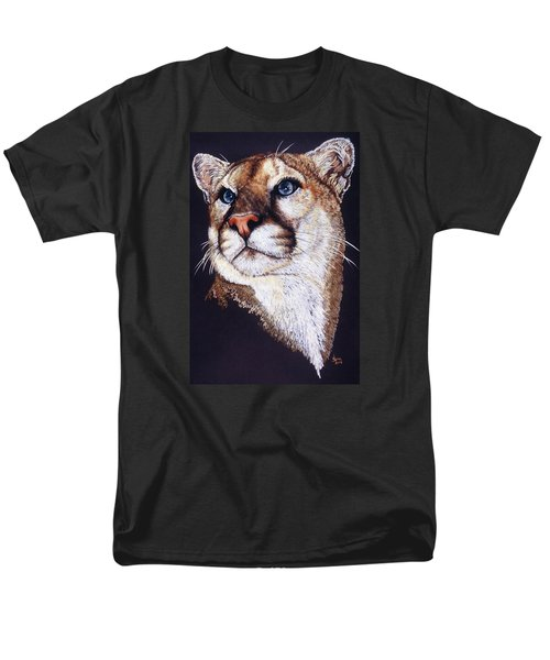 Men's T-Shirt  (Regular Fit) featuring the drawing Intense by Barbara Keith