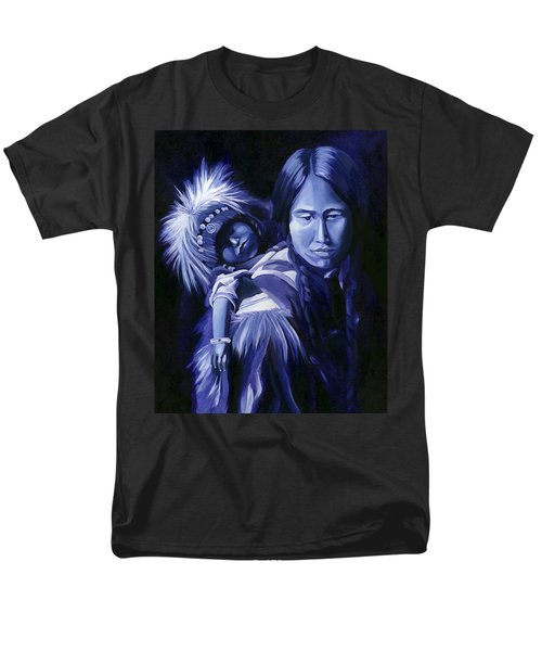 Inuit Mother And Child Men's T-Shirt  (Regular Fit) by Nancy Griswold