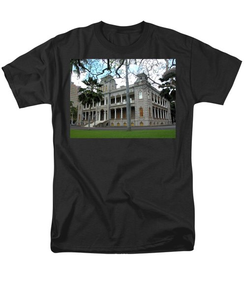 Men's T-Shirt  (Regular Fit) featuring the photograph Iolani Palace, Honolulu, Hawaii by Mark Czerniec